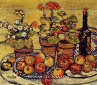 Still Life, Fruit and Flowers by Maurice Prendergast