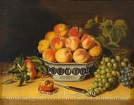 Still Life: Peaches and Grapes painting reproduction, John A. Woodside