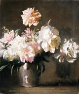 Still Life: Vase of Peonies painting reproduction, Edmund Charles Tarbell