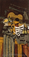 Still Life with Guitar by Georges Braque