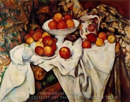 Still Life with Apples and Oranges painting reproduction, Paul Cezanne