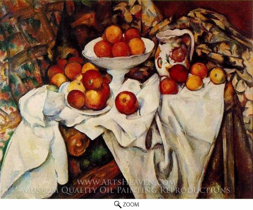 Paul Cezanne, Still Life with Apples and Oranges oil painting reproduction