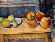 Still Life with Apples and Pears painting reproduction, Paul Cezanne