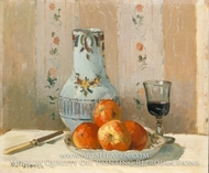 Still Life with Apples and Pitcher by Camille Pissarro