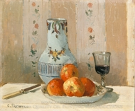 Still Life with Apples and Pitcher painting reproduction, Camille Pissarro