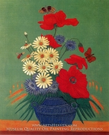 Still Life with Butterflies and Flowers painting reproduction, Louis Vivin