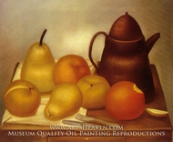 Still Life with Coffee Pot by Fernando Botero