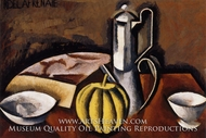 Still Life with Coffee Pot and Melon by Roger De La Fresnaye