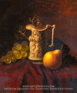Still Life with Ewer and Fruit by Carducius Plantagenet Ream