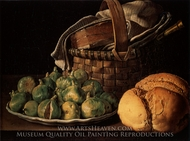 Still Life with Figs painting reproduction, Luis Eugenio Melendez