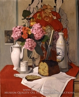 Still Life with Flowers by Felix Vallotton