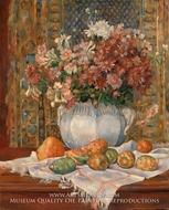 Still Life with Flowers and Prickly Pears painting reproduction, Pierre-Auguste Renoir