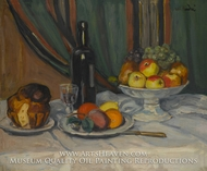 Still Life with Fruit and Brioche by Albert Andre