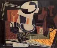 Still Life with Fruit Dish by Juan Gris