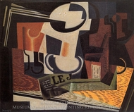 Still Life with Fruit Dish painting reproduction, Juan Gris