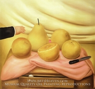 Still Life with Fruits by Fernando Botero