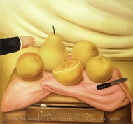 Still Life with Fruits painting reproduction, Fernando Botero