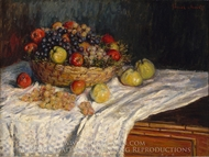 Still Life with Grapes and Apples painting reproduction, Claude Monet