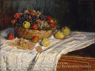 Still Life with Grapes and Apples by Claude Monet