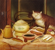 Still Life with Green Soup painting reproduction, Fernando Botero