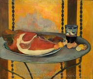 Still Life with Ham painting reproduction, Paul Gauguin