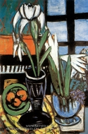 Still Life with Irises by Max Beckmann