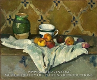 Still Life with Jar, Cup, and Apples by Paul Cezanne