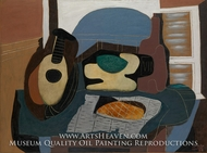Still Life with Mandolin and Galette by Pablo Picasso (inspired by)