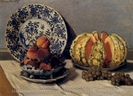Still Life with Melon painting reproduction, Claude Monet
