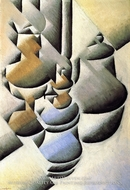 Still Life with Oil Lamp by Juan Gris
