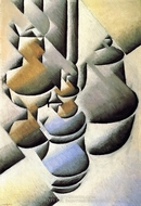 Still Life with Oil Lamp painting reproduction, Juan Gris