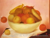 Still Life with Orange Falling by Fernando Botero