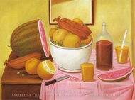Still Life with Orangeade painting reproduction, Fernando Botero