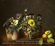 Still Life with Pansies by Henri Fantin-Latour