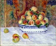 Still Life with Peaches by Pierre-Auguste Renoir
