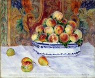 Still Life with Peaches painting reproduction, Pierre-Auguste Renoir