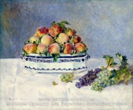 Still Life with Peaches and Grapes by Pierre-Auguste Renoir
