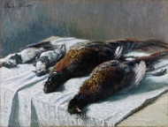 Still Life with Pheasants and Plovers painting reproduction, Claude Monet