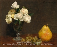 Still Life with Roses and Fruit by Henri Fantin-Latour
