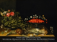 Still Life with Strawberries painting reproduction, French Painter