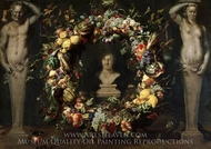 Still Life with Terms and a Bust of Ceres painting reproduction, Frans Snyders