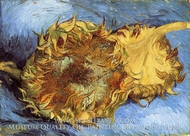 Still Life with Two Sunflowers by Vincent Van Gogh