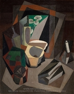 Still Life with Utensils painting reproduction, Diego Rivera