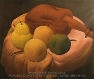 Still Life with Violin painting reproduction, Fernando Botero