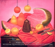 Still Life with Watermelon by Fernando Botero