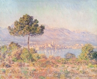 Stone Pine at Antibes painting reproduction, Claude Monet
