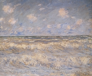 Stormy Sea by Claude Monet