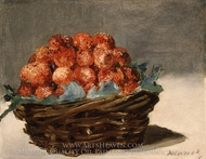 Strawberries painting reproduction, Edouard Manet