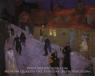 Street at Dusk by Lyonel Feininger