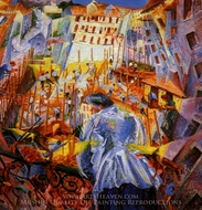 Street Noises Invade the House painting reproduction, Umberto Boccioni